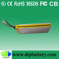 MSDS certificate 1500mah 7.4v battery lithium ion polymer battery