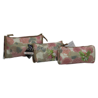 hot sale rose printing Enlive Promotional travel cosmetic bag polyester makeup Euro standard