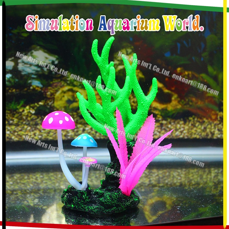 Large aquarium ornament silicone artificial coral reef for Artificial coral reef aquarium decoration
