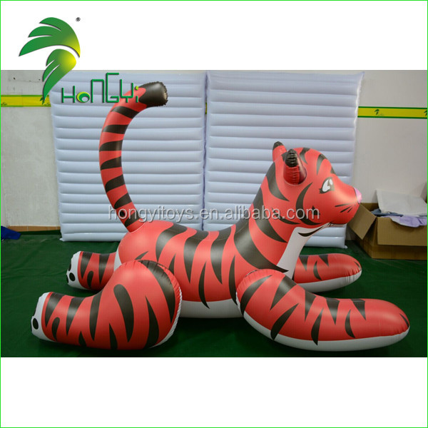 Cartoon Type Inflatable Tiger Toys , Inflatable Toy Ride On Animals From Hongyi