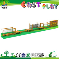 Stainless steel tube slide park popular playground children outdoor wood climbing