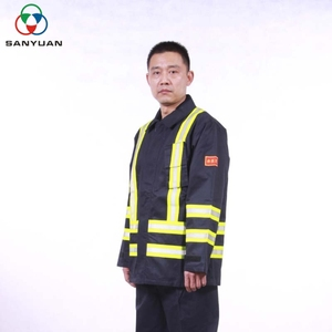 Safety protection against fire damage economy china supplier aluminum heat resistant suit for firefighter flame retardant suit