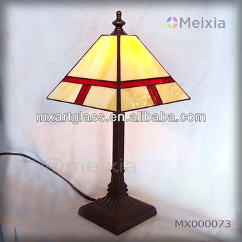MX000073 china wholesale tiffany style stained glass desk lamp for home decoration item