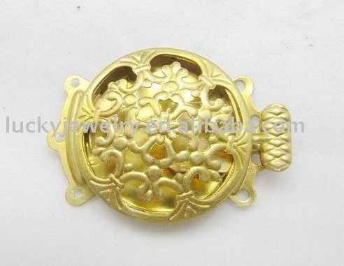 Fashion 3 Hole Brass Box Clasps jewelry Findings
