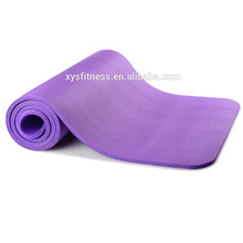 Single color organic yoga mat and bag set