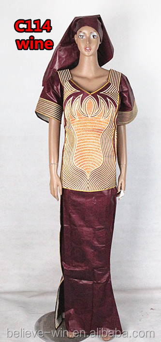 New wedding clothing african women dress of <strong>C114</strong> wine