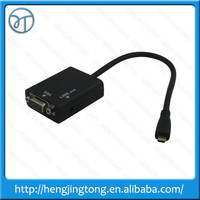 1080P Mini HDMI Male to VGA Female Cable Video Converter Adapter HD Conversion Cable with Audio Output Drop shipping