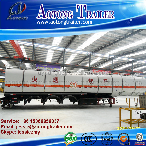 Best selling 3 axles 50tons carton stell fuel tanker trailer for sale