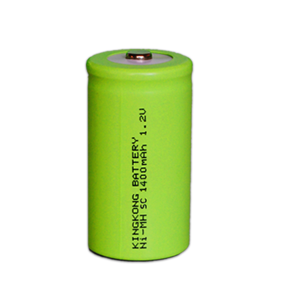 Best Selling 1.2V Size SC 1400mAh Ni-MH Rechargeable Battery for Digital camera Outperforms
