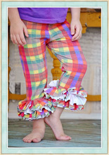 rainbow lattice ruffle pants baby icing ruffle pants kid clothes floral ruffle leggings