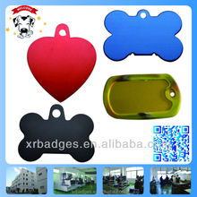 Wholesale custom shaped blank aluminum metal dog tag