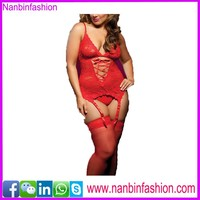 M-6XL plus size lingerie babydoll black, red, blue in stock
