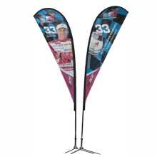 Brand new teardrop sports event display wind flag football fans car seat covers design with CE certificate