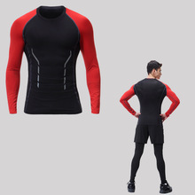 Copper Compression Running Wear poly/sp long Sleeve T shirt for Men