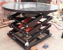 3000kg heavy duty hydraulic car lift table with rotating turntable for sale