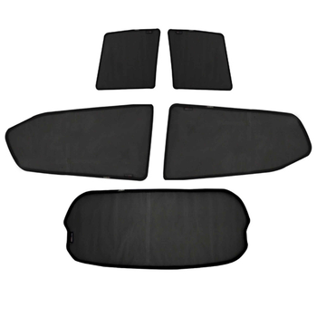 Custom car side window covers for rear and front window