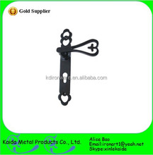 Hand Forged wrought iron pull handle for furniture cabinet door