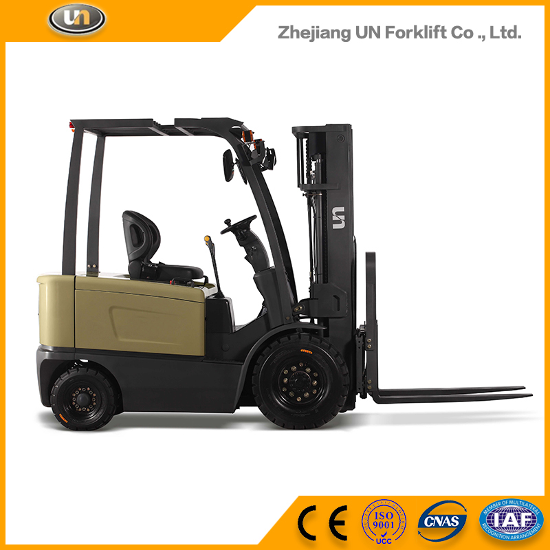 China UN Double Front Tyres 2 Ton Mini Electric Forklift Truck