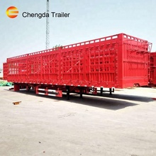 tri-axle livestock cargo trailers flat beam fence trailer for Vietnam market