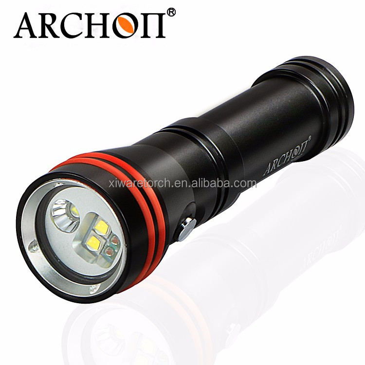 Archon D15VP W21VP 1300lumen Underwater marine Dive Video LED Torch light with Red led, spot light for club, diver