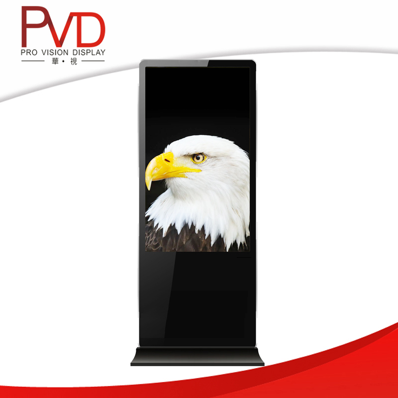 55 '' Super Slim Round Corner advertising stand HD LCD Display all in one pc lcd monitor
