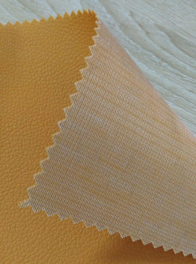 Embossed litchi synthetic PVC <strong>leather</strong> for bags/sofa