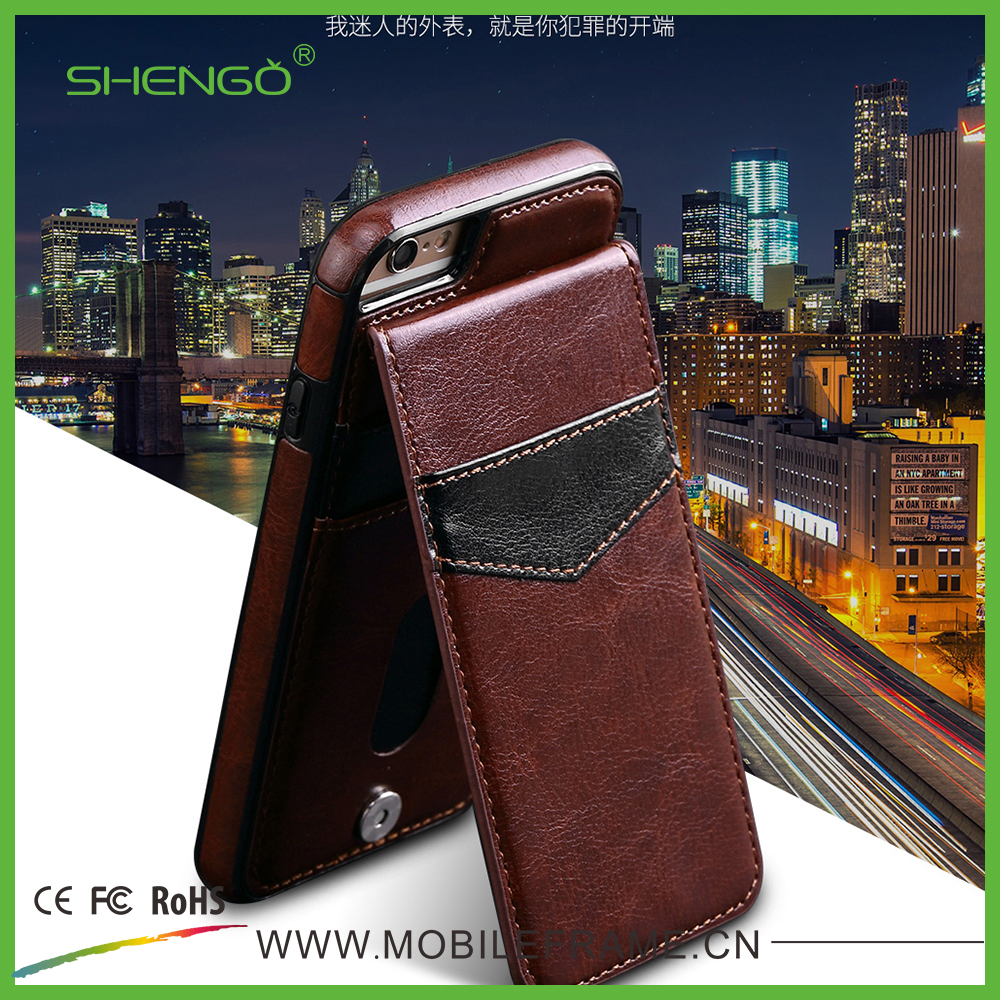 Low Price Phone Cover Custom Luxury PU Leather Card Slot Wallet Case 5 inch Mobile Phone Case