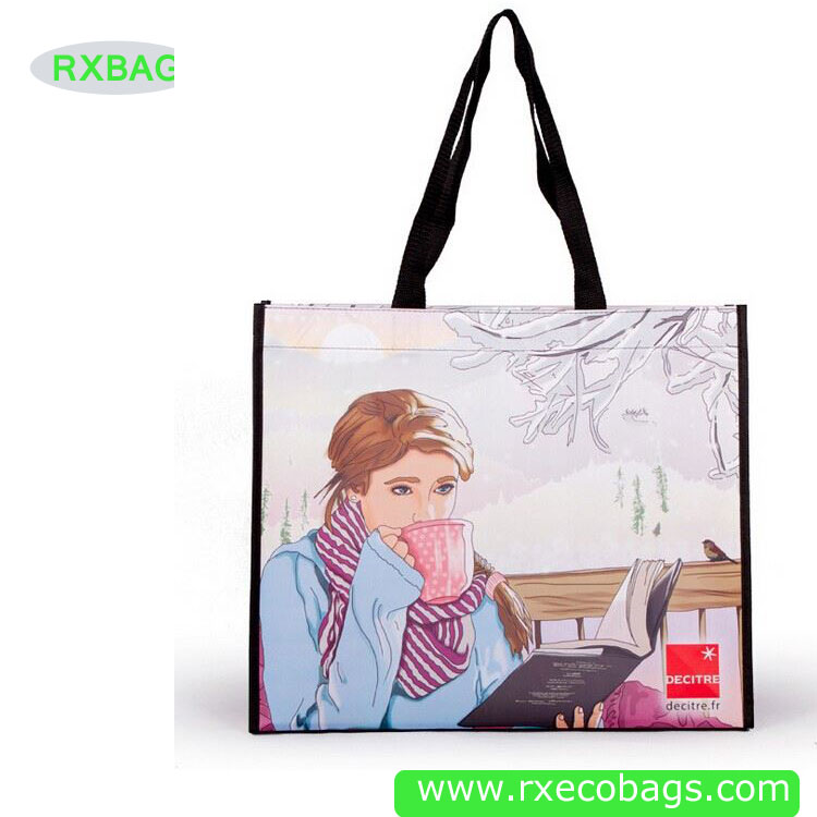 Promotional Eco Laminated Woven Bag Supplier Cheap PP Totes Full Print Shopping Bag Wholesale