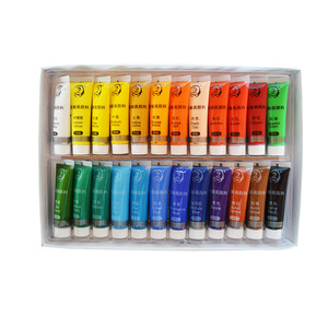 Professional Bright Colors Non-toxic Acrylic Colour Paint Cheap Acrylic Paint With Paint Brushes