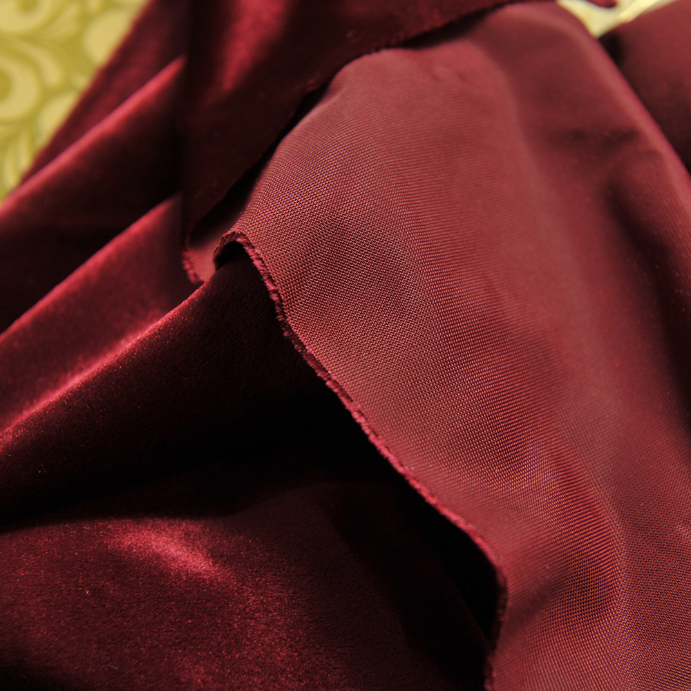 upholstery italian velvet curtain fabric for window,solid blackout, home interior decor sofa plain dyed cloth YDL001