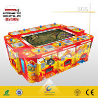 "The latest 55""6 players English version igs king of treasures arcade game with machine gun"