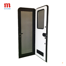 aluminum rv door with screen and double glazed acrylic door window