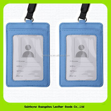14206A Leather vinyl business card holder/ Travel card cover/ Exhibition registration card holder