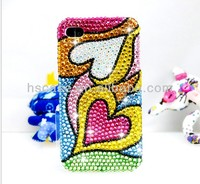 Luxury fashion crystal mobile case for iphone 5 apple 4g