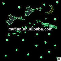 star&moon glow in dark sticker