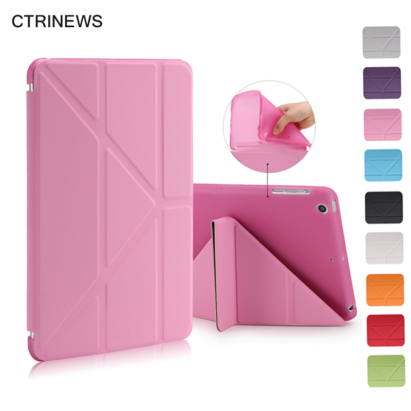 Smart Tablet Case For iPad mini 1 2 3 Flip Leather Stand Cover For iPad mini Silicone TPU Case Auto Wake Up / Sleep