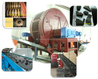YUNTONG automatic engineer available waste tire shredder,rubber hammer mill and grinder,fiber and steel separator