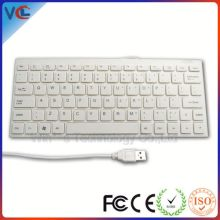 slim design wired computer US version white keyboard with chocolate keycap