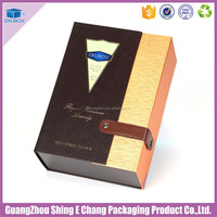 2017 wine designer luxury wine gift box / leather wine carrier for cardboard bottle packaging box
