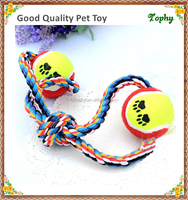 New design double tennis balls dog cat toys for training dogs cats
