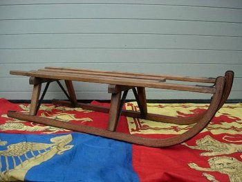 ANTIQUE WOODEN SLEDGES
