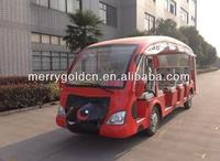 Lovely 48V 23 seats electric sightseeing vehicle with rain curtain