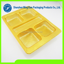 slap-up plastic material strict standard process tray for dessert packaging