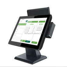 16api 15 inch dual touch screen ordering pos system with printer and cash drawer B15