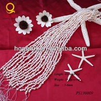 pearl string 5-6mm white kinds of nugget pearl