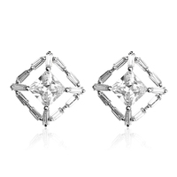 OUXI Jewelry Cheap Wholesale Elegant White Stone Stud Earrings