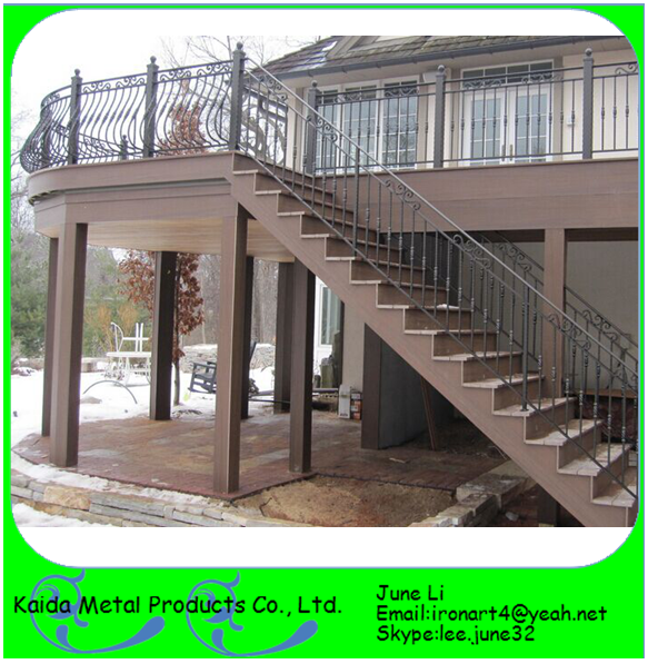 Charming Home Garden Modern Cast Iron Used Metal Stairs Grill Design