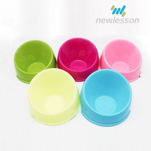 Food grade PP multicolor plastic dog bowl anti skid feeder bowl for pet