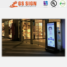 Outdoor freestanding advertising light box