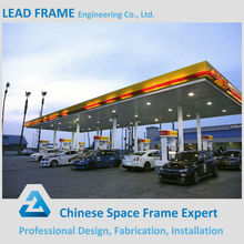 Customized Size Flat Prefab Gas Station With Steel Roof